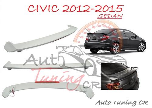 Coleta Spoiler Tapa Baul Honda Civic 2012-2015 Sedan