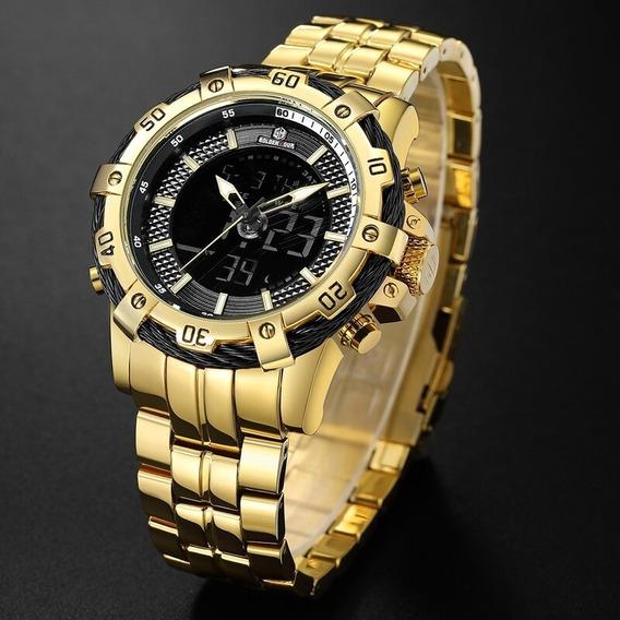 Promoção Relógio Goldenhour Gh-121