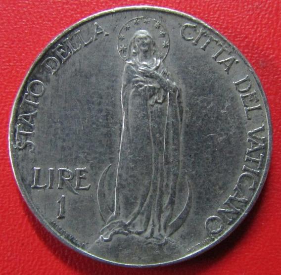 Ciudad Del Vaticano Moneda 1 Lira 1937 Vf+ Km 5