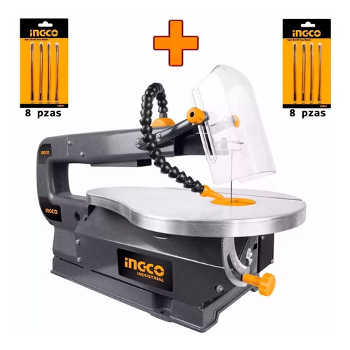 Imagen 1 de 7 de Kit Calador Sierra Caladora Banco Ingco+ 16 Juegos De Sierra