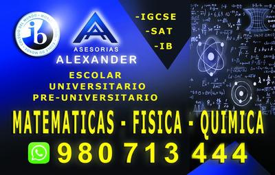 Clases De Matemáticas A Domicilio, San Isidro, Surco, Molina