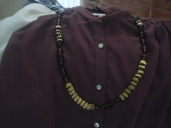 Collar De Fantasia,fina, Piedras Doradas