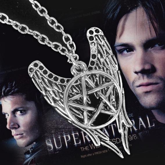 Colar Seriado Supernatural / Sobrenatural Estrela Pentagrama