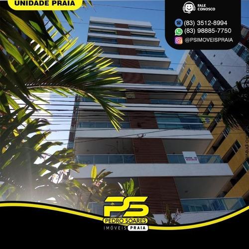 Apartamento Com 3 Dormitórios Para Alugar, 157 M² Por R$ 6.500/mês - Tambaú - João Pessoa/pb - Ap4485