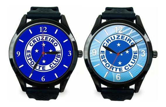 Kit 2 Relógios Pulso Esportivo Cruzeiro Masculino Promoção