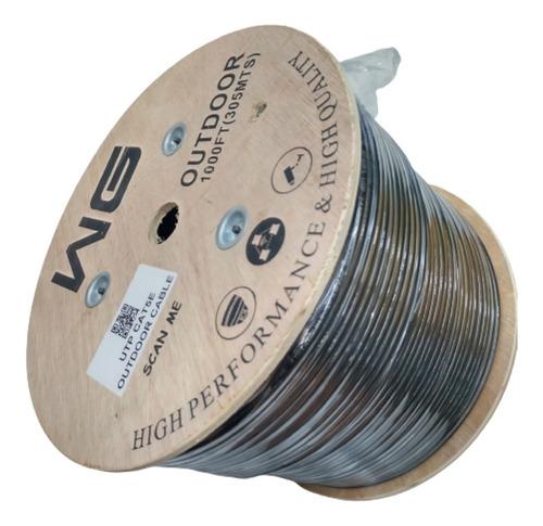 Imagen 1 de 6 de Cable Utp Cat 5e Para Interperie Doble Chaqueta 305