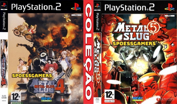 Metal Slug 4 E 5 Ps2 (2 Dvds Tiro ) Patch .