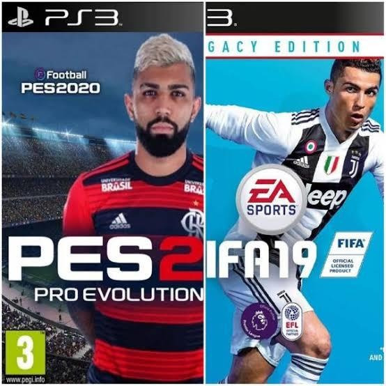 Fifa 19-ps3 E Pes18(leia A Descricao)
