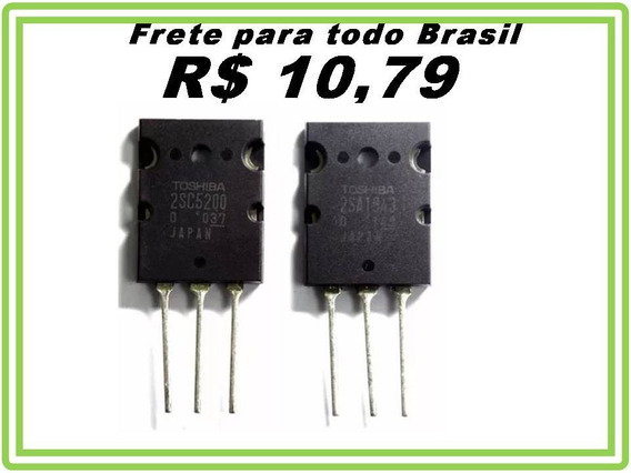 Transistor 2sc5200 + 2sa1943 C5200 A1943 Toshiba 2 Pares