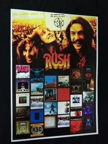 Poster De Coleção Rush Discografia Banda Rush Cd Rush 2112