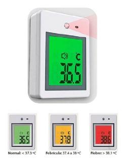 Termometro Infrarrojo De Pared Sensor De Movimiento Tbm-210b
