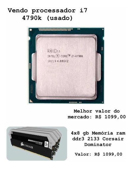 Processador Intel I7 4790k Usado