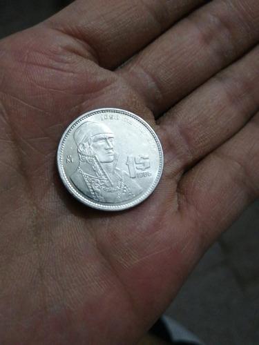 Imagen 1 de 2 de Moneda De 1 Peso María Morelos Y Pavón Año (1986)