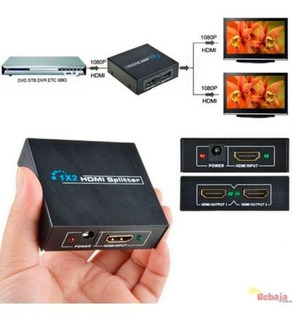 Hdmi Splitter 1x2 1.4 Full Hd 4k Multiplica Señal Conecta2tv