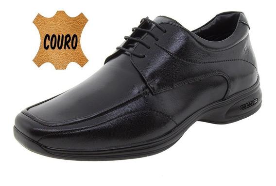 Sapato Masculino Social 3d Preto/cadarço Jota Pe - 30003