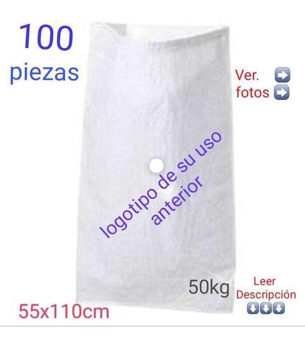 100pz Costal De Rafia, Azucarero 50kg, Como Nuevo