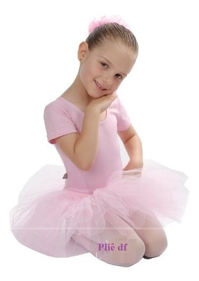 Roupa De Ballet Infantil Com Saia De Tule Tutu