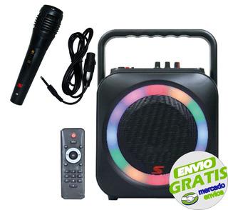 Parlante Karaoke Bluetooth Senon F906b 30w Usb Microfono - Cuotas