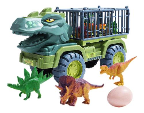Imagen 1 de 10 de Juego De Juguetes De Coches De Transporte De Dinosaurios