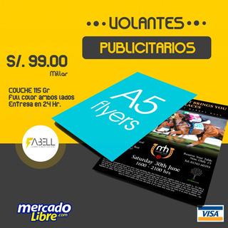 Volantes Publicitarios, Flyer - A5(21x16 Cm) - Couche Brillo