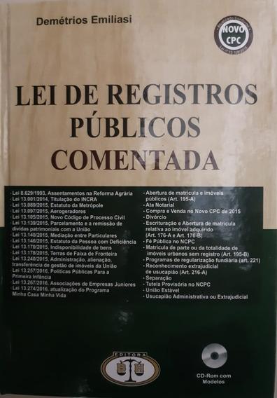 Lei De Registros Públicos Comentada - Demétrios Emiliasi