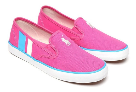 Tenis Polo Ralph Lauren Color Rosa Nuevos Originales #26