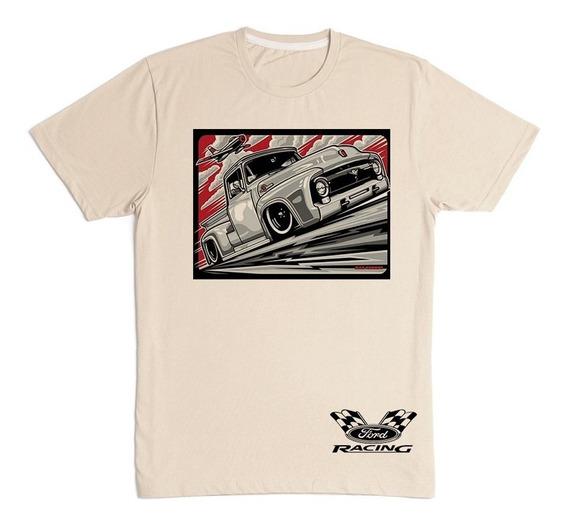 Camiseta Masculina Ford F-100 Pick-up Antiga
