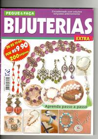 Revista Pegue & Faça Bijuterias Encadernado Com 4 Volumes