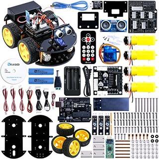 Kit Carro Smart Robot Uno R3 Sensor Ultrasónico Bluetooth