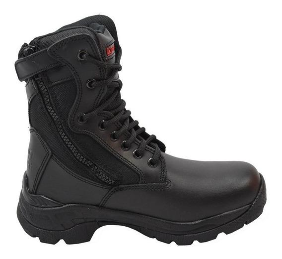 Zapatos Hombre Piel Estilo Bota Negro 25-7463 Duty Gear