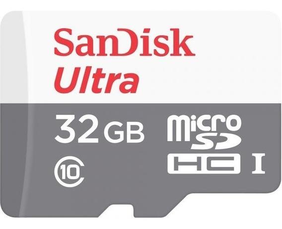 Cartão De Memória Sandisk Micro Sd 32gb Ultra Classe 10 80mb