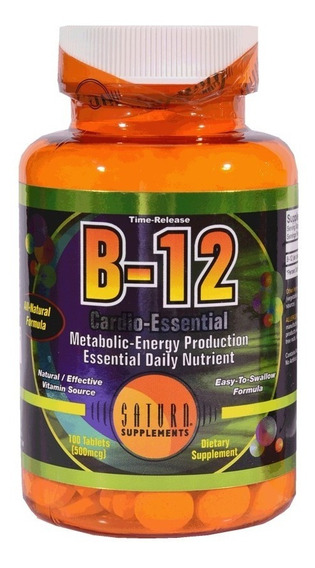 Vitamina B12 Saturn 100 Tab - Envios A Domicilio!
