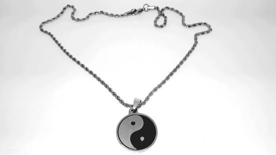 Corrente Em Aço Inoxidável Yin E Yang
