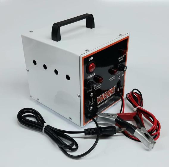 Carregador De Bateria Portátil 5a 12v/24v Maxfort-mx7