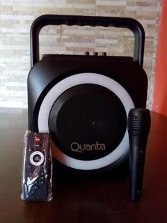 Parlante Quanta Qtsbt21 - Ecualizador, Microfono, Luces Led