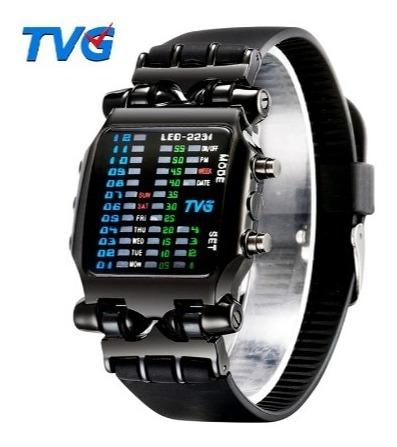 Relógio Led Digital Pulso / Masculino / Esporte / Militar