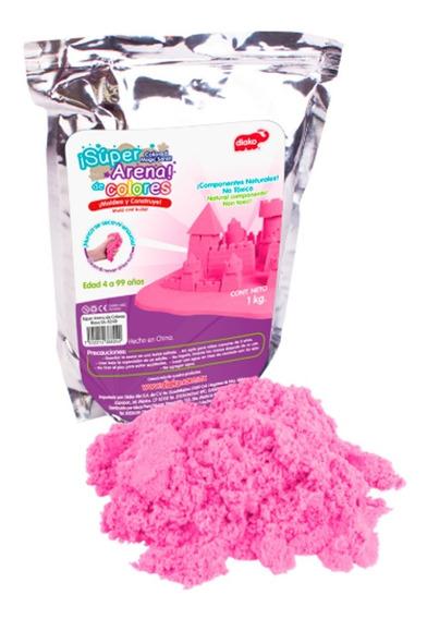 Super Arena Mágica Cinética 1 Kg Moldeable Color Rosa Oferta