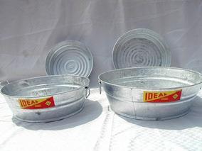 Lava Trastos Valde De Lamina Galvanizada Ideal #4 - 13 Ltr