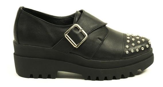 Zapato Lucerna Gomon Plataforma Cuero Negro