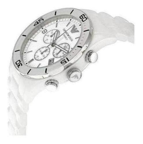 Relógio Empório Armani Ar1424 Cerâmica Branca Original Caixa