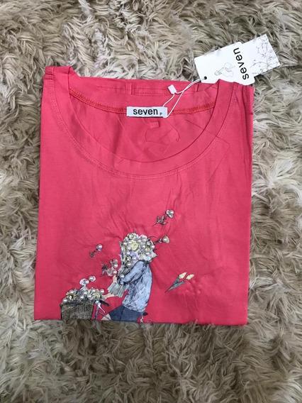 Blusa T-shirt Feminina Estampa Perolas Bicicleta Importardo