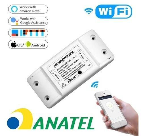 Novadigital Interruptor Wifi Automação Residencial Original Ms101 Casa Inteligente Smart Home Google Home Alexa Ms101