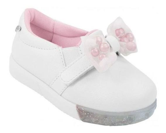 Tênis Pampili Infantil Baby Fun Branco Orginal C/nota