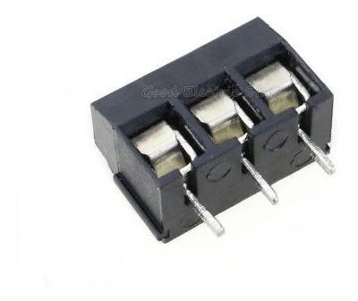 10 Terminal Kre Block Borne Conector Triplo 3 Vias Preto