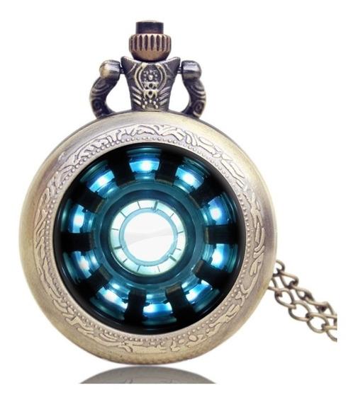Reactor De Iron Man Reloj Dije D Colección C Cadena Bolsillo