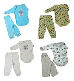 Kit 04 Body+calça Bebê Recém Nascido Masculino Luxo Premium