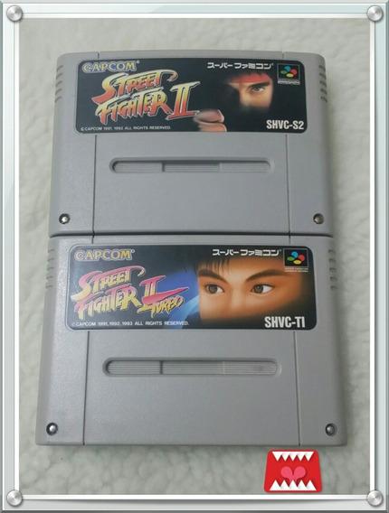 Kit Street Fighter Ii E Ii Turbo Originais Super Famicom