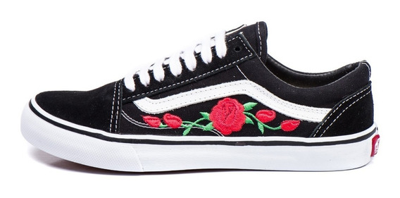 Tênis Vans Old Skool Florido Blackrose Feminino Frete Grátis