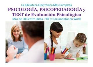 Psicología Y Psicopedagogía - La Biblioteca E. Más Completa