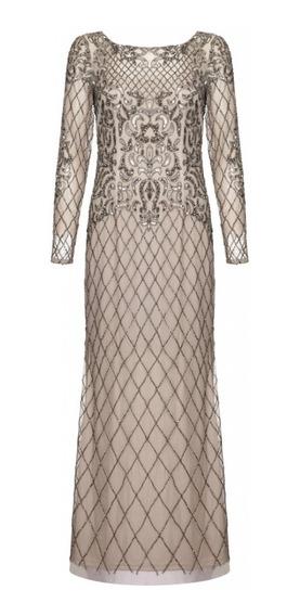 Elegante Vestido De Noche Adrianna Papell 100% Original